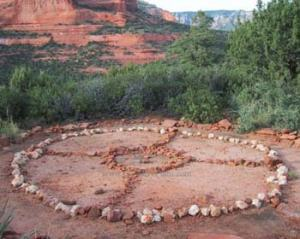 medicine wheel in desert